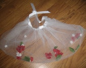 Red Flower and Toole Fairy or Princess Skirt - Large - Closing SALE GOING on NOW
