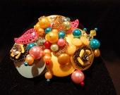Vintage Jeweled Brooch - Spring Fever