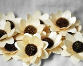 Birch Wood Shavings Crafted Flowers - Medium - Natural- by AccentsandPetals on Etsy