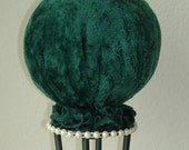 Hunter Green Velvet Hat Stand