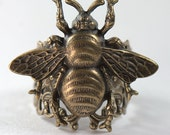 Victorian Bee Ring, Statement Ring, Womans adjustable size 4, 4.5, 5, 5.5, 6, 6.5, 7, 7.5, 8, 8.5, 9, 9.5, 10, 10.5, 11, 11.5, 12, Boho chic