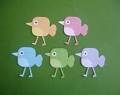 5 Anime Bird Die Cuts for Scrapbooking Cards and Paper Crafts