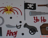 14 x Pirate Accessories Die Cuts Handmade Embellishments for Scrapbooking Cards and Paper Crafts