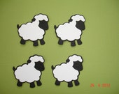 6 Black Sheep Die Cuts Embellishment for Scrapbooking Cards and Paper Crafts Flock Herd Farm Animals