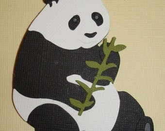 Large Panda Die Cut for Scrapbooking and Paper Crafts