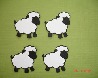 6 Black Sheep Die Cuts Embellishment for Scrapbooking Cards and Paper Crafts  Lamb Flock Herd Farm Animals Free Post Australia