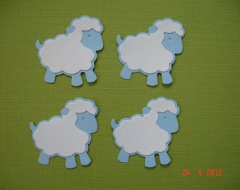 6 Blue Baby Sheep Die Cuts for Scrapbooking and Paper Crafts Free Post Australia Boy