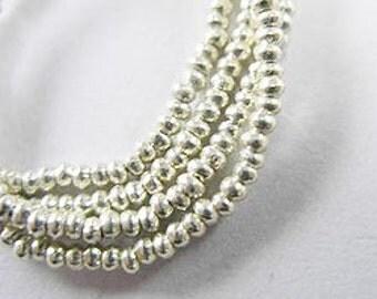 240 of Karen Hill Tribe Silver Seed Beads 1.8 mm. :ka2612m