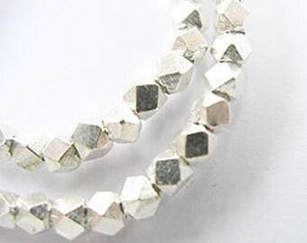 40 of Karen Hill Tribe Silver Facet Beads 2.5mm. :ka2268