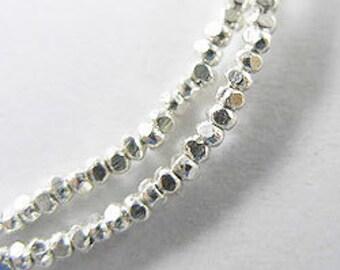 220 of Karen Hill Tribe Silver Facet Seed Beads 1.8x1 mm. :ka2906