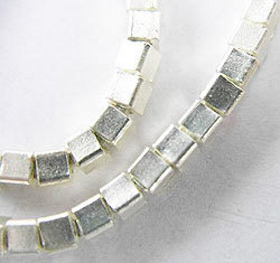 40 of Karen Hill Tribe Silver Cube Beads 2.7 mm. :ka2769