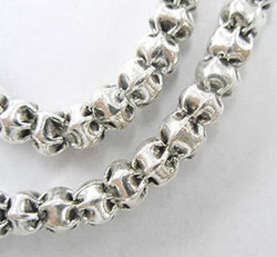 20 of Karen Hill Tribe Silver Pleat Beads 5x4 mm. :kt0280