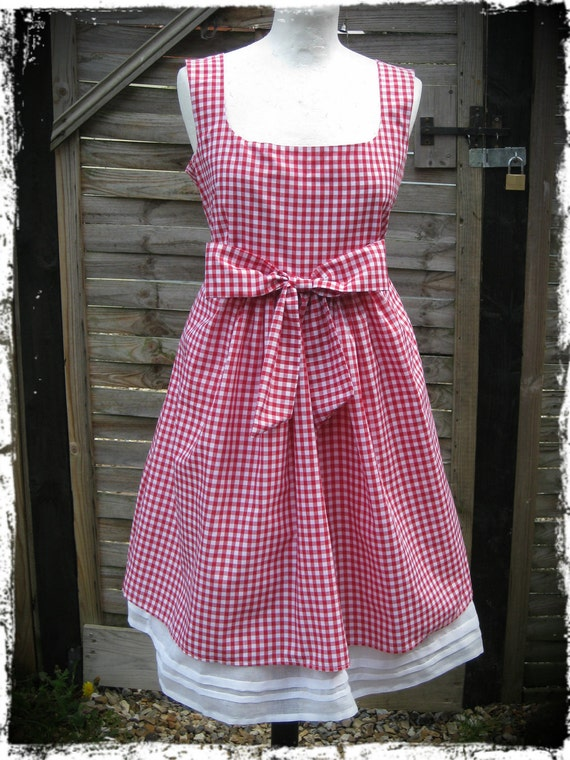 1950 Style Gingham Maternity Dress