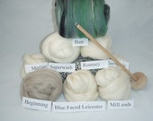Huge Learn to Spin kit with All Undyed Fiber