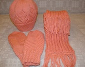Very useful and nice hand knitted set for this winter.