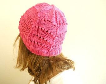 Knitted FUSHIA Beanie   Ready to ship  Free Shipping Fall Fashion
