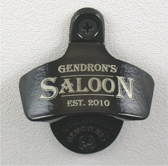 Set of 4 groomsmen gifts personalized wall mount bottle - Personalized wall mount bottle opener ...