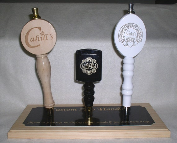 Tap Handles Engraved with Your Name, Design or Home Brew Logo