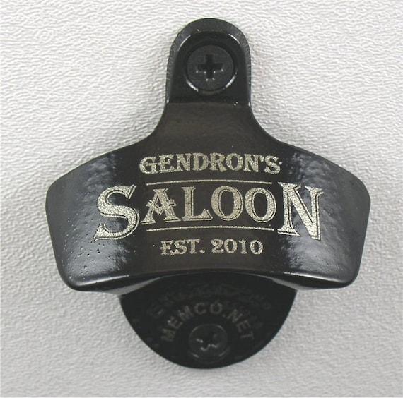 Set of 9 Personalized Bottle Opener and Capcatcher for Groomsmen- Wall Mount Bottle Opener Custom Engraved