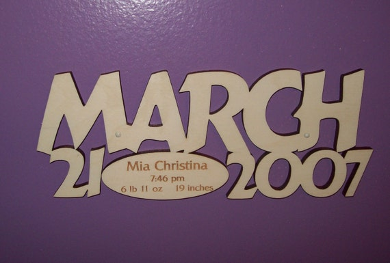 New Baby Sign with Birth Info - Custom for You