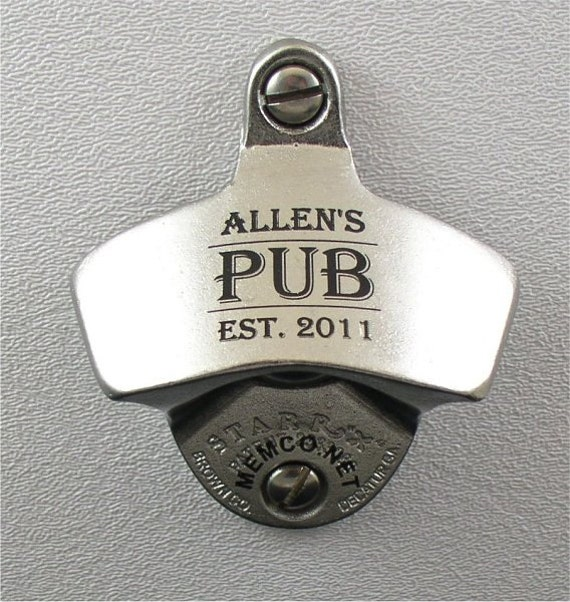 Personalized Bottle Opener & Capcatcher Personalized with your Monogram, Name or Logo, Gift for Men Beer Opener