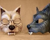 Dark Gray Wolf Mask