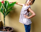 PDF Pattern - Abigail Dress for 4 - 10 years old and tutorial.