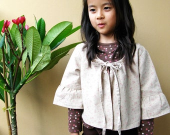 PDF Pattern - Dolly Jacket for 4 - 10 years old.