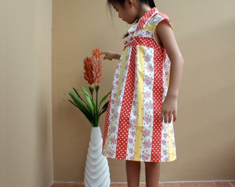 PDF Pattern - XL Hannah Dress for 6T - 10T and tutorial.
