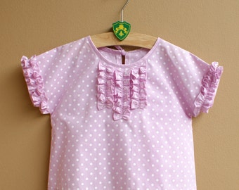 NEW - PDF Pattern - Chloe Top for 12M - 5T and tutorial.