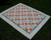 Peace Love and Butterflies Shabby Chic Patchwork Lap Quilt FREE U.S SHIPPING