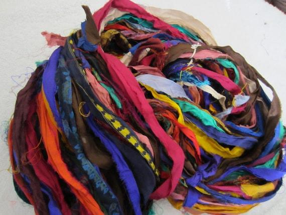8 Yards Sari Silk Ribbon Multicolors 2