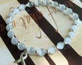 Light Gray - Allergy, Diabetes, Brain Cancer Awareness Cat's Eye Bracelet