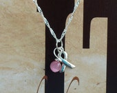 Breast Cancer Awareness Necklace - Sterling Silver