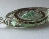 Sale- OOAK - Stuttering Awareness Butterfly Pendant - Sterling Silver