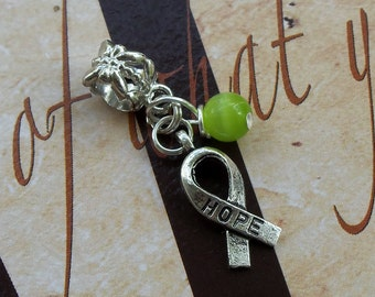 Lyme Disease, Babesia, Celiac Disease Awareness Charm Bead or Pendant, European Style