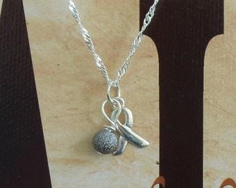 Parkinson's Disease, Dyslexia Awareness Necklace - Sterling Silver