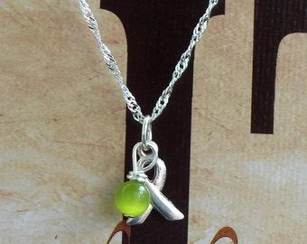 Lyme Disease, Babesia, Celiac Disease Awareness Necklace - Sterling Silver