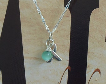 Stuttering Awareness Necklace - Sterling Silver