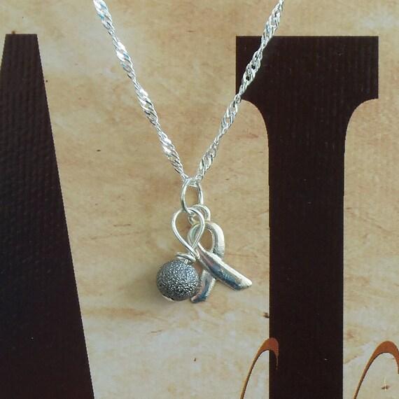 Dyslexia Awareness Silvers: Parkinson's Disease Dyslexia Awareness Necklace