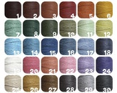 25 yards Waxed Irish Linen Thread, pick 5 colors