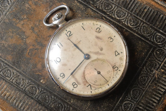 Vintage pocket  watch for movement, watch parts, watch case, watch face,
