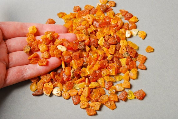 Big Lot of Raw Natural Baltic Amber beads, chips
