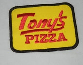 Tony's Pizza Delivery Unused Shirt Patch