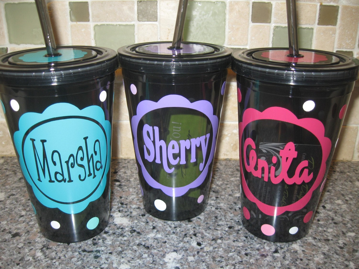 Personalized Double Wall Acrylic Tumbler 16 Oz W By