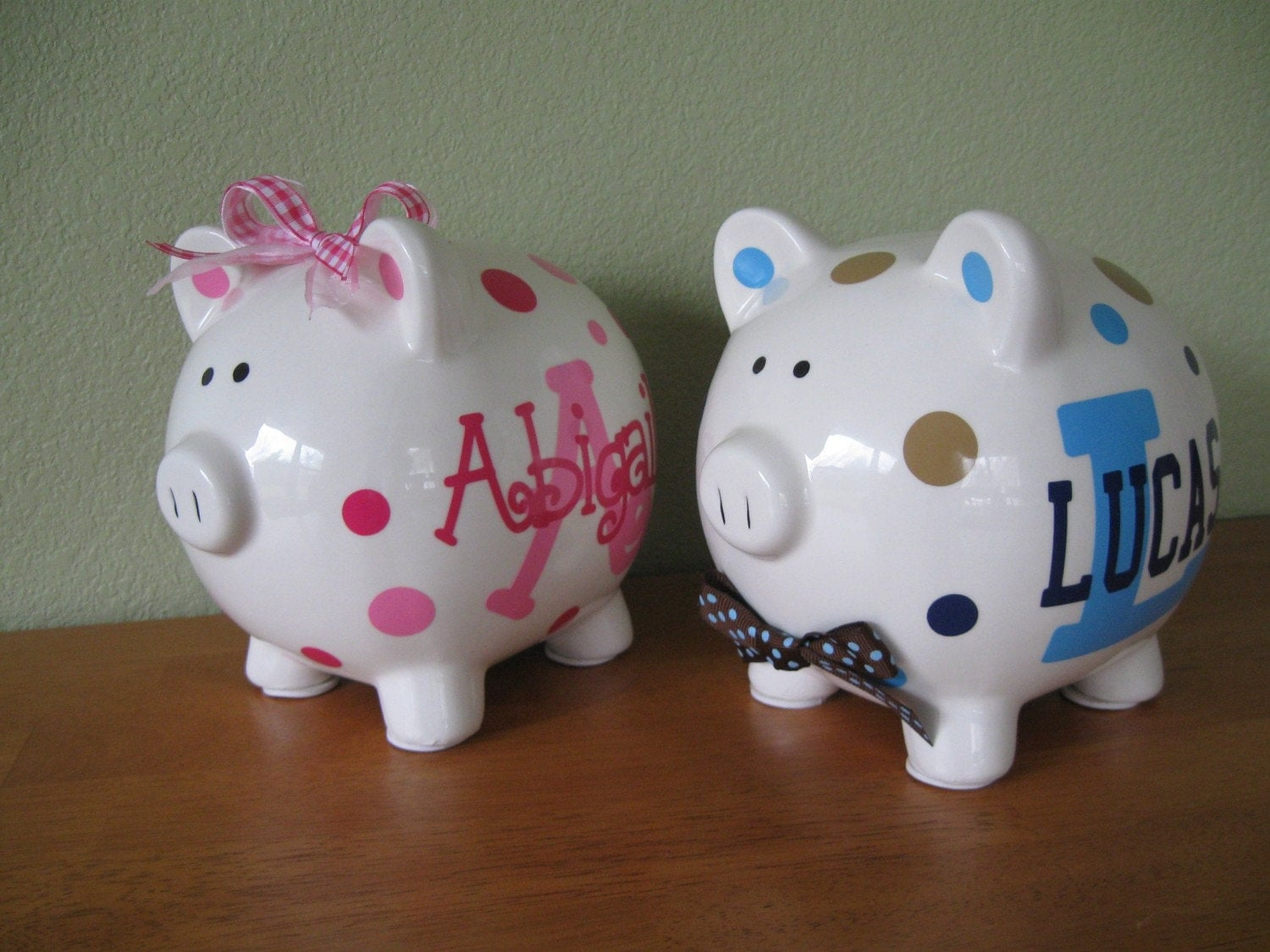 Piggy Bank Personalized Ceramic Piggy Bank By Deladesign
