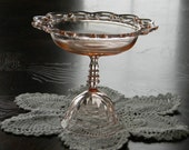 Vintage Pink dessert stand Compote server