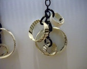 Quilled Earrings from Vintage Sheet Music