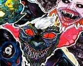 FEATURE CREATURES Series 2 - Cult Horror Sticker 6-Pack