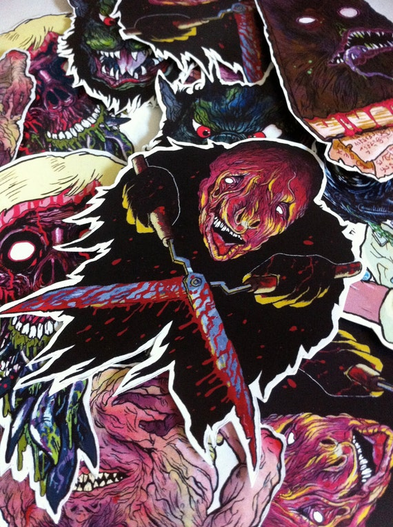 FEATURE CREATURES Cult Horror Sticker 6-Pack